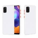 For Samsung Galaxy A31 Skin Hand Feeling Series Shockproof Frosted PC+ TPU Protective Case(White)