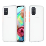 For Samsung Galaxy A71 Skin Hand Feeling Series Shockproof Frosted PC+ TPU Protective Case(White)