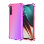 For Oppo Realme X2 / Realme XT / K5 Four-Corner Airbag Shockproof Gradient Color Clear TPU Case(Pink Purple)