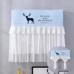 Do Not Take Dust-proof And Anti Direct Blowing Simple Wind Hanging Machine Air Conditioner Moon Cover, Size:Width 92 × Thickness 20 × Height 90cm(Striped Deer)