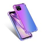 For Google Pixel 4 Four-Corner Airbag Shockproof Gradient Color TPU Protective Case(Purple Blue)
