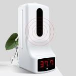 K9 Handsfree Non-contact Body Light-sensitive Distance Sensor Thermometer + 1000ml Automatic Non-contact Liquid Soap Dispenser(White)