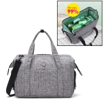 Sterilization Travel Bag Large Capacity Ozone Disinfection Fitness Bag Can Be Carried (Grey)