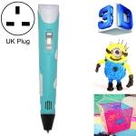 Hand-held 3D Printing Pen, UK Plug (Blue)