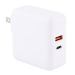 PD65W-A6 PD 65W 90 Degrees Foldable Pin Portable Multi-function USB Quick Charger, US Plug (White)