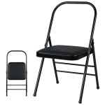 Experience Multifunctional Folding Yoga Chair, Couble Beam(Black)
