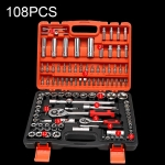 108 In 1 Multi-function Car Repair Combination Toolbox Ratchet Wrench Set