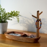 Solid Wood Key Rack, Porch Storage Rack, Acacia Wooden Boat Type