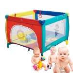Portable Multi-functional Folding Crib Sleep Bed Movable Baby Game Bed with Door(Colour)