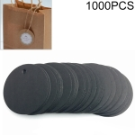 1000 PCS Round Decoration Tag Kraft Paper Blank Small Label Clothing Identification Card, Diameter: 5cm (Black)
