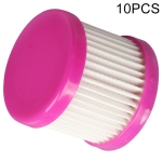10 PCS Filter Element Puppy Dust Accessories Filter Element for D-602A / D-607 / D-616 / D-609 (Pink)