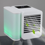 3 in 1 Refrigeration + Humidification + Purification Air Cooler Desktop Cooling Fan with Colorful Light