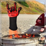 2 Layer Fire Protection Portable Silicone Anti-skidding High Temperature Resistance Cooking Baking Barbecue Gloves