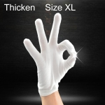 12 Pairs Pure Cotton Working Gloves, Thickened,Size:XL