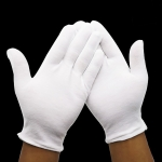 12 Pairs Pure Cotton Working Gloves,Thickened Cotton