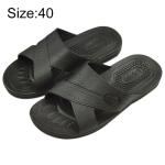 Anti-static Non-slip X-shaped Slippers, Size: 40 (Black)