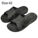 Anti-static Non-slip X-shaped Slippers, Size: 42 (Black)