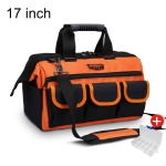 WINHUNT Multi-function Oxford Cloth Wear-resisting Hardware Maintenance Tools Handbag Shoulder Bag Convenient Tool Bag with Zipper Bag, Size : 17 inch