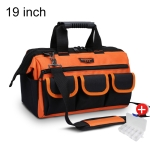 WINHUNT Multi-function Oxford Cloth Wear-resisting Hardware Maintenance Tools Handbag Shoulder Bag Convenient Tool Bag with Zipper Bag, Size : 19 inch