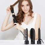 4 in 1 Electric Hair Dryer & Curly Hair Massage Comb & Small Curling Stick & Hair Dryer Modeling Set