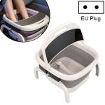 Foldable Foot Bath Automatic Heating Foot Massage Barrel with Remote Control, Intelligent Style, EU Plug