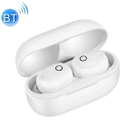 DT-17 Wireless Two Ear Bluetooth Headset Supports Touch & Smart Magnetic Charging & Power On Automatic Pairing (White)