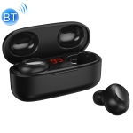 WK V5 TWS 9D Stereo Sound Effects Bluetooth 5.0 Touch Wireless Bluetooth Earphone with LED Power Display & Charging Box, Support Calls (Black)