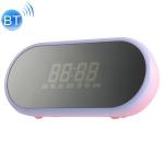 WK SP290 Portable Mirror Alarm Clock Bluetooth V4.2 Desktop Speaker (Pink)