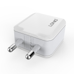 LDNIO A2201 2.4A Dual USB Charging Head Travel Direct Charge Mobile Phone Adapter Charger With Type-C Data Cable (EU Plug)