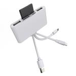 NK-1032 Pro 5 in 1 8 Pin + Type-C / USB-C + USB + TF Card + SD Card Multi-function Camera Reader Adapter