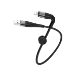 Borofone BX32 0.25m 5A Max Output Munificent USB to 8 Pin Data Sync Charging Cable (Black)