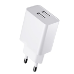 ROCK SPACE T29 Dual USB Quick Charging Travel Charger Adapter 5V 2.4A, EU Plug (White)