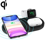 A04 3 in 1 Multi-function Qi Standard Wireless Charger for Mobile Phones & iWatch & AirPods (Black)