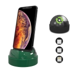 XBX-018 Multi-function 8 Pin + USB-C / Type-C + Micro USB 3 in 1 Phone Charging Holder Stand (Green)