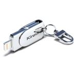 Kinzdi 64GB USB + 8 Pin Interface Metal Twister Flash U Disk (Silver)