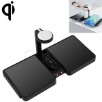 864 4 in 1 10W Qi Standard Wireless Charger for Mobile Phones & iWatch & AirPods (Black)