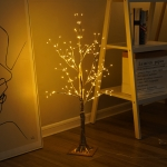 150 LEDs Gypsophila Copper Wire Tree Table Lamp Decoration Creative Bedside Night Light Gift(Warm White)