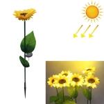 Light Control Induction Solar Powered Sunflower Light Garden Decoration Waterproof Lighting Lamp