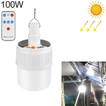 03-TY 100W 42 LEDs SMD 5730 Lighting Emergency Light Solar Rechargeable LED Bulb Light Camping Light with Battery Display & Remote Control