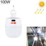 2025 100W 42 LEDs SMD 5730 Lighting Emergency Light Solar Rechargeable LED Bulb Light Camping Light with Battery Display