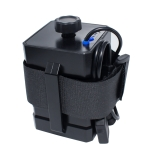 3 Sections 18650/26650 Waterproof Battery Box with 12v Round Head & 5v USB Connector Output Voltage Does Not Include Battery(Black)