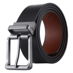 Fashion Alloy Pin Buckle Casual Men PU Belts Clothes Accessories, Width: 3.3cm, Length: 108cm(Black)