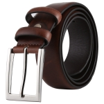 Fashion Alloy Pin Buckle Casual Men PU Belts Clothes Accessories, Width: 3.3cm, Length: 107cm(Brown)