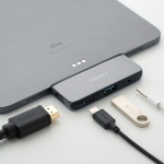 Momax 4 In 1 Type-C / USB-C Multi-port Converter Adapter (Dark Gray)