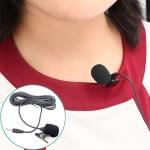 ZJ002MR Mono 3.5mm Straight Plug Car Sun Visor Wireless Interpreter Tour Guide Megaphone Lavalier Wired Microphone, Length: 3m