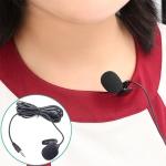 ZJ002MR Stereo 2.5mm Straight Plug Car Sun Visor Wireless Interpreter Tour Guide Megaphone Lavalier Wired Microphone, Length: 3m