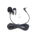 ZJ025MR Stick-on Clip-on Lavalier Stereo Microphone for Car GPS / Bluetooth Enabled Audio DVD External Mic, Cable Length: 3m, 90 Degree Elbow 3.5mm Jack