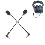 ZJ033MR-03 19cm Mono 3.5mm Angle Head Plug Gaming Headset Sound Card Live Microphone