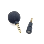 ZJ040MR 4 Level Pin 3.5mm Mobile Phone Tablet Laptop Electronic Equipment Mini Straight Microphone