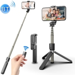 L03 Aluminum Alloy Foldable Bluetooth Tripod Selfie Stick (Black)